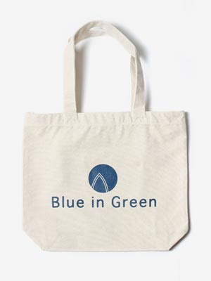 Blue in Green(ブルーイングリーン)/ Small TOTE BAG -WHITE-