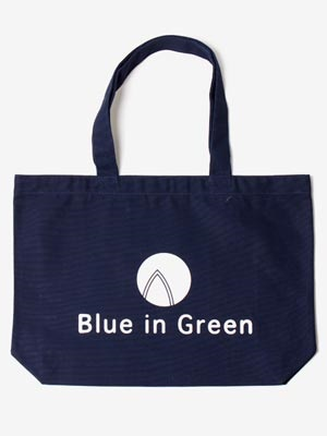 Blue in Green(ブルーイングリーン)/ Large TOTE BAG -NAVY-