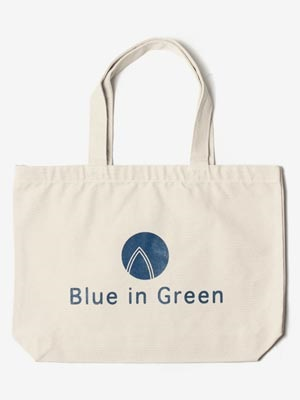 Blue in Green(ブルーイングリーン)/ Large TOTE BAG -WHITE-