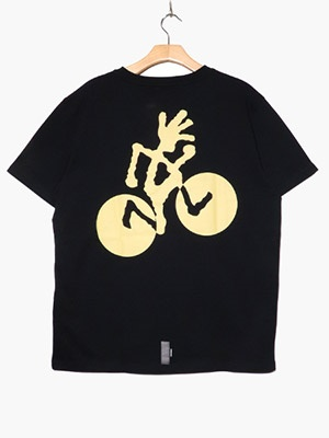 CHARI&CO(チャリアンドコー)/ x GRAMICCI CYCLINGMAN TEE -BLACK-