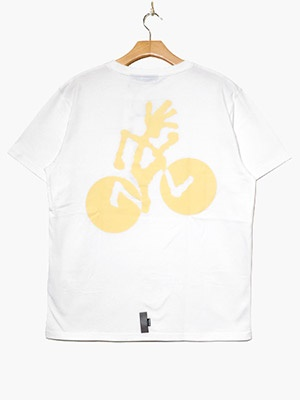 CHARI&CO(チャリアンドコー)/ x GRAMICCI CYCLINGMAN TEE -WHITE-