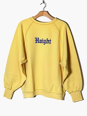 VOTE MAKE NEW CLOTHES(ヴォート・メイク・ニュー・クローズ)/ HAIGHT/ASHBURY CREW SWEAT -GOLD-