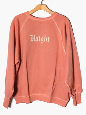 VOTE MAKE NEW CLOTHES(ヴォート・メイク・ニュー・クローズ)/ HAIGHT/ASHBURY CREW SWEAT -ORANGE-