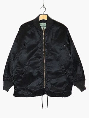 VOTE MAKE NEW CLOTHES(ヴォート・メイク・ニュー・クローズ)/ MA-1 COACH JACKET W/QUILT -BLACK-