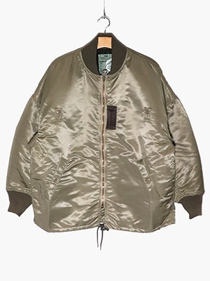 VOTE MAKE NEW CLOTHES(ヴォート・メイク・ニュー・クローズ)/ MA-1 COACH JACKET W/QUILT -OLIVE-