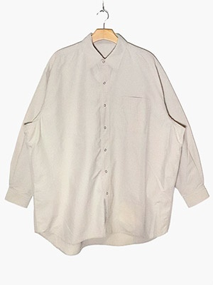 BURLAP OUTFITTER(バーラップ アウトフィッター)/ L/S B.B. SHIRT SOLID -SAND-