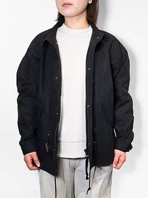 Allumer(アリュメール)/ Big Silhouette M65 Fish Tail Short Jacket -BLACK-