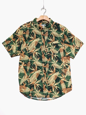 BANKS JOURNAL(バンクスジャーナル)/ VOID S/S WOVEN SHIRT -DEEP FOREST-