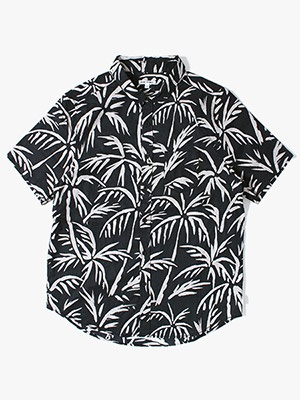 BANKS JOURNAL(バンクスジャーナル)/ GROVE S/S WOVEN SHIRT -DIRTY BLACK-