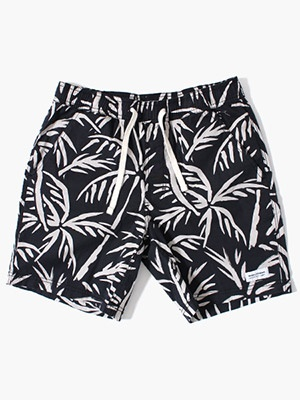 BANKS JOURNAL(バンクスジャーナル)/ GROVE ELASTIC SHORT PANTS -DIRTY BLACK-