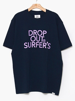 DROP OUT SURFER'S(ドロップアウトサーファーズ)/ CLASSIC LOGO TEE -NAVY-