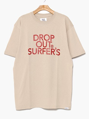 DROP OUT SURFER'S(ドロップアウトサーファーズ)/ CLASSIC LOGO TEE -SAND-
