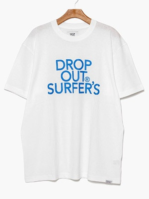 DROP OUT SURFER'S(ドロップアウトサーファーズ)/ CLASSIC LOGO TEE -WHITE-
