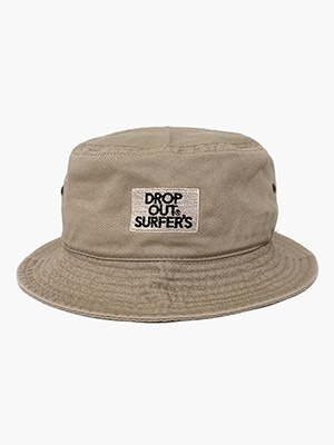 DROP OUT SURFER'S(ドロップアウトサーファーズ)/ CLASSIC EMB HAT -SAND-