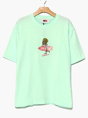 MELLOW(メロー)/ Mr.MARVIE3 TEE -GREEN-(予約:5月下旬頃入荷予定分)
