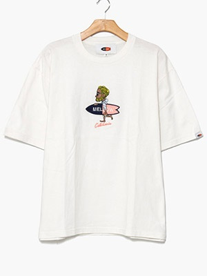 MELLOW(メロー)/ Mr.MARVIE3 TEE -WHITE-