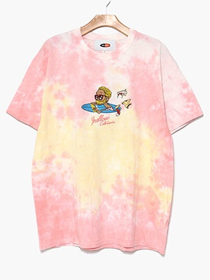 MELLOW(メロー)/ MULTI TIE DYE TEE -PINK-