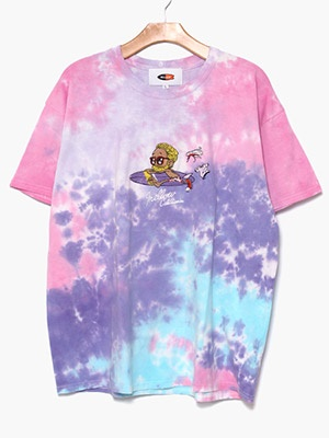 MELLOW(メロー)/ MULTI TIE DYE TEE -PURPLE-