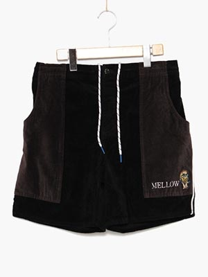 MELLOW(メロー)/ CORDUROY BEACH S/P -BLACK-