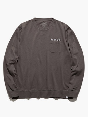ROARK REVIVAL(ロアークリバイバル)/ LOGO 9.3oz H/W L/S POCKET TEE -BLACK-