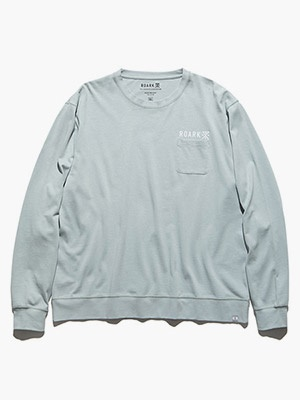 ROARK REVIVAL(ロアークリバイバル)/ LOGO 9.3oz H/W L/S POCKET TEE -BLUE-