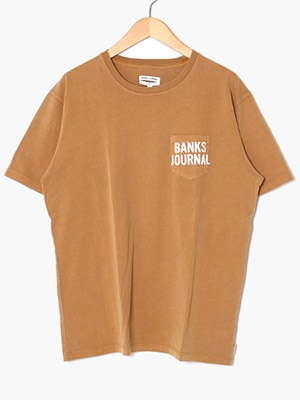 BANKS JOURNAL(バンクスジャーナル)/ SHORES HAWAII TEE SHIRT -TOFFEE-