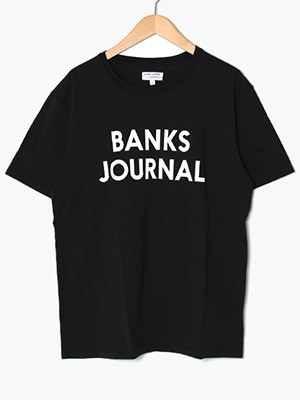 BANKS JOURNAL(バンクスジャーナル)/ JOURNAL TEE SHIRT -DIRTY BLACK-