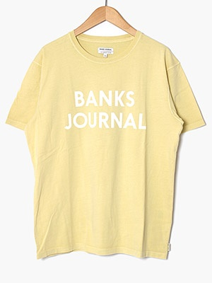 BANKS JOURNAL(バンクスジャーナル)/ JOURNAL TEE SHIRT -LIGHT LEMON-