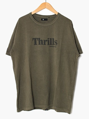 THRILLS(スリルズ)/ OPS BOX FIT TEE -MILLITARY-