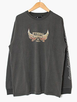 THRILLS(スリルズ)/ SACRED MERCH FIT LONG SLEEVE TEE -MERCH BLACK-