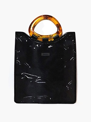 Casselini(キャセリーニ)/ MARBLE ACRYLIC BAG -BLACK-Lady's-