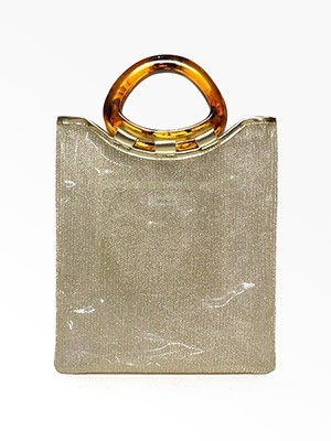 Casselini(キャセリーニ)/ MARBLE ACRYLIC BAG -GOLD-Lady's-