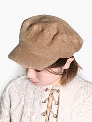 Casselini(キャセリーニ)/ MARINE CAP -BROWN-Lady's-