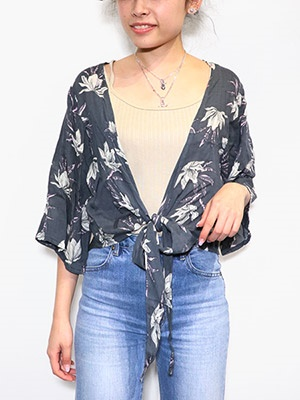 LEONA SURF(レオナサーフ)/ BIG FLOWER TOPS -CHARCOAL GRAY-