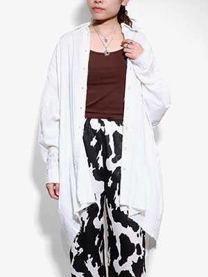 provoke(プロヴォーク)/ gauze big shirt -WHITE-Lady's-