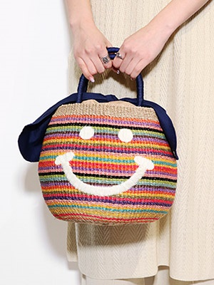 a-jolie(アジョリー)/ RAINBOW TOTE BAG -MULTI-
