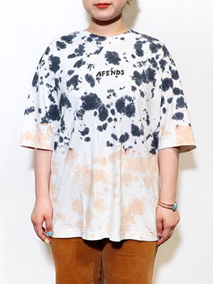 AFENDS(アフェンズ)/ HIGH STATUS HEMP OVERSIZED TEE -BLACK TIE DYE-