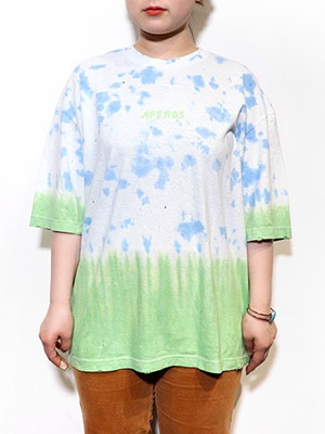 AFENDS(アフェンズ)/ HIGH STATUS HEMP OVERSIZED TEE -BLUE TIE DYE-