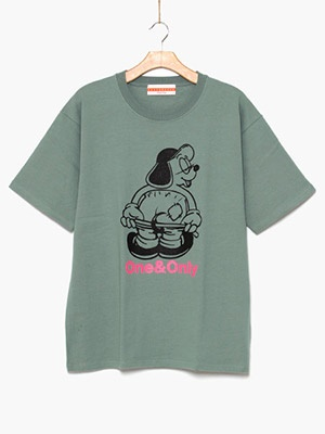 ONE & ONLY(ワンアンドオンリー)/ Hello Only Tee -GREEN-