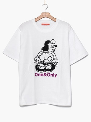 ONE & ONLY(ワンアンドオンリー)/ Hello Only Tee -WHITE-