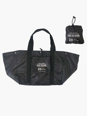 POST GENERAL(ポストジェネラル)/ PACKABLE SHOPPING BASKET BAG -BLACK-