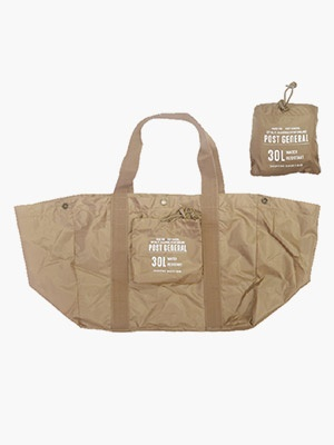POST GENERAL(ポストジェネラル)/ PACKABLE SHOPPING BASKET BAG -BROWN-