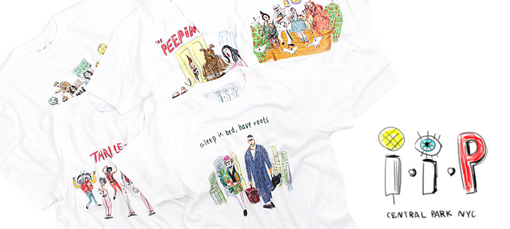 『interviewer in the park』ニューヨークCENTRAL PARKの謎のアーティストによるイラストTシャツ